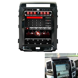 Toyota Land Cruiser LCD Multimedia System Tesla Style with 2 Cameras - Model 2010-2014-SehgalMotors.Pk