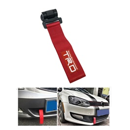 TRD Dummy Strap Tow Hook - Red  | Towing Hook | Tow Hook Ribbon For Car | Modification Drift Decoration