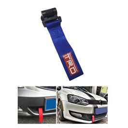 Car TRD logo Front Bumper Strap Tow Hook - Blue | Towing Hook -SehgalMotors.Pk