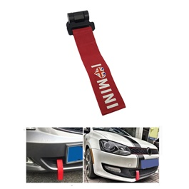 Mini Strap Tow Hook - Red | Towing Hook | Tow Hook Ribbon For Car | Modification Drift Decoration-SehgalMotors.Pk
