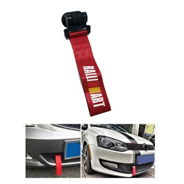 Ralli Art Strap Tow Hook - Red | Towing Hook | Tow Hook Ribbon For Car | Modification Drift Decoration-SehgalMotors.Pk