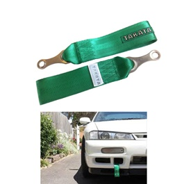 Takata Strap Tow Hook - Green | Towing Hook | Tow Hook Ribbon For Car | Modification Drift Decoration-SehgalMotors.Pk