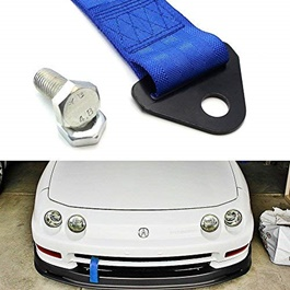 Front Tow Strap Hook Universal with Random Logo - Blue-SehgalMotors.Pk