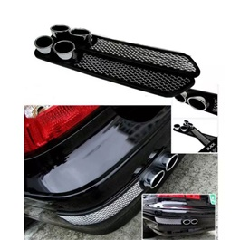 Car Universal Rear Bumper Diffusers 2 Pcs  | Bumper Air Flow | Back Bumper Guard Car Styling-SehgalMotors.Pk
