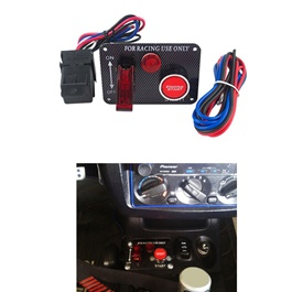 Car Racing Engine Push Start Button with Toggle Switches-SehgalMotors.Pk