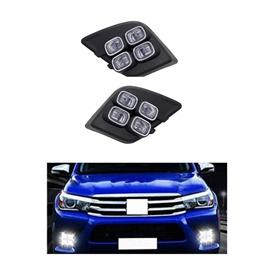 Toyota Hilux Revo Led Fog Lamps Set - Model 2016-2019-SehgalMotors.Pk