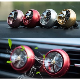 New Style Turbo Fan AC Grill Car Perfume Fragrance - Multi-SehgalMotors.Pk