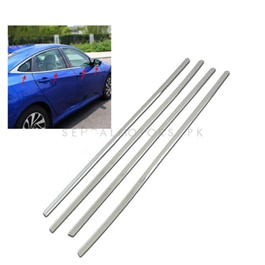 Toyota Corolla Chrome Weather Strips - Model 2014-2017-SehgalMotors.Pk
