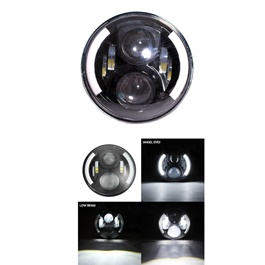 Jeep LED Round Projection Headlight / Head Lamp Half DRL– 7-inches-SehgalMotors.Pk