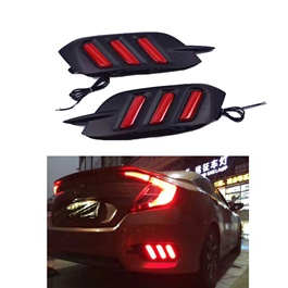 Honda Civic Running Back Bumper Light Mustang Style - Model 2016-2019-SehgalMotors.Pk