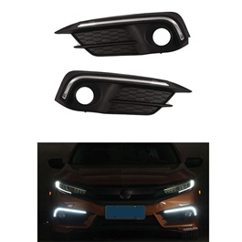 Honda Civic X DRL Fog Lamps Cover - Model 2016 - 2017 -SehgalMotors.Pk