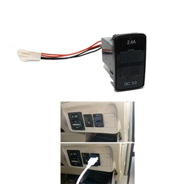 Toyota Vigo In-Dash Dual USB Socket Fast Charge-SehgalMotors.Pk