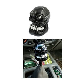 Skull Gear Shift Knob For Auto  - Black  | Gear Knob | Shift Lever Stick Knob | Lever Knob-SehgalMotors.Pk