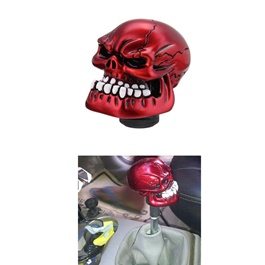 Skull Gear Shift Knob For Auto  - Red | Gear Knob | Shift Lever Stick Knob | Lever Knob