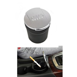 Audi Portable Car Ashtray For Smokers Chrome Black-SehgalMotors.Pk