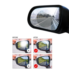 Anti Fog Rearview Mirror Circle Waterproof Film - Pair-SehgalMotors.Pk