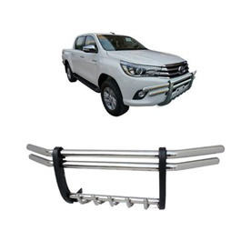 Toyota Hilux Revo Stainless Steel Grille Guard Bull Bar - Model 2016-2019-SehgalMotors.Pk