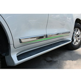 Toyota Land Cruiser Full Chrome Side Moulding - Model 2015-2021-SehgalMotors.Pk