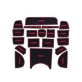 Honda Vezel PVC Interior Mats Red - Model 2013-2019-SehgalMotors.Pk