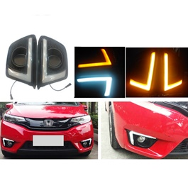 Honda Fit Fog lamp DRL Cover Nike Style - Model 2013-2019-SehgalMotors.Pk