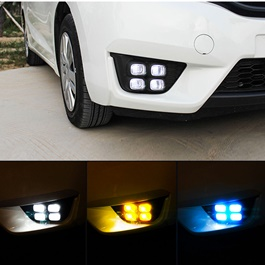 Honda Fit Fog Lamps DRL Covers Bugatti Style - Model 2013-2019-SehgalMotors.Pk