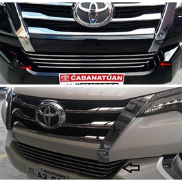 Toyota Fortuner Front Lower Chrome Grill - Model 2016-2020-SehgalMotors.Pk