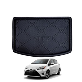 Toyota Vitz Trunk Mat - Model 2014-2019 | Trunk Boot Liner | Cargo Mat Floor Tray | Trunk Protection Mat | Trunk Tray Cover Pad-SehgalMotors.Pk