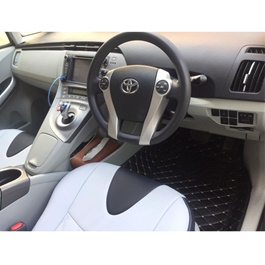 Toyota Prius 7D Stitched Floor Mat Black - Model 2016-2019-SehgalMotors.Pk
