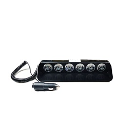 Heavy Duty Police Flashers Dashboard WIth 6 LED - Code S6-SehgalMotors.Pk