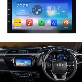 Toyota Hilux Revo Android Multimedia Navigation System - Model 2014-2017-SehgalMotors.Pk