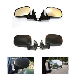 Suzuki Mehran Side Mirrors - Pair | Wide Angle | Anti Glare Lens -SehgalMotors.Pk