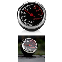 Car Automobile Thermometer Car | Car Interior Decoration Ornament Car Styling | Round Shape Car Automobile Analogue Thermometer