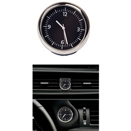 Car Dashboard Quartz Clock | Car Clock | Mini Automobiles Internal Stick On Digital Watch | Auto Ornament Car Accessories Gifts-SehgalMotors.Pk