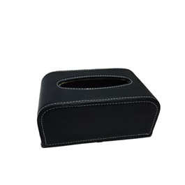 Car Tissue Box Black | Tissue Holder | Modern Paper Case Box | Napkin Container Tray | Towel Desktop-SehgalMotors.Pk