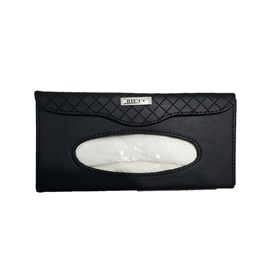 Car Sun Visor Tissue Box - Black | Tissue Holder | Modern Paper Case Box | Napkin Container Tray | Towel Visor Tissue Box-SehgalMotors.Pk