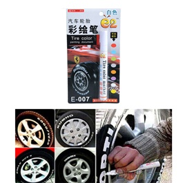 Paint Tire / Tyre Color Marker Pen Waterproof - Multi Color-SehgalMotors.Pk