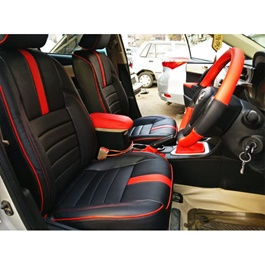 Toyota Corolla Type R Seat Covers Black And Red Model - 2014-2017-SehgalMotors.Pk