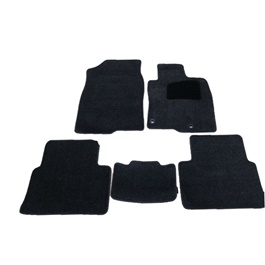 Toyota Corolla Luxury Carpet Irani Floor Mat Black- Model 2014-2017-SehgalMotors.Pk