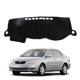 Toyota Corolla Dashboard Carpet For Protection and Heat Resistance Black - Model - 2004 - 2008