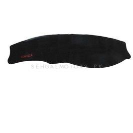 Toyota Corolla Dashboard Carpet For Protection and Heat Resistance Black - Model - 1991 - 1995-SehgalMotors.Pk