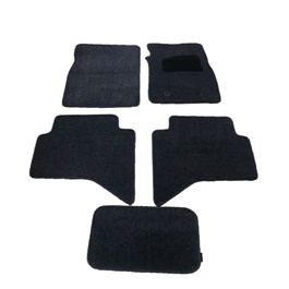 Toyota Hilux Vigo Luxury Carpet Irani Floor Mat Black - Model 2005-2016-SehgalMotors.Pk