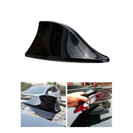 Universal Car Roof Radio AM/FM Signal Shark Fin Aerial Car Antenna Stylish Decorative Purpose Unpainted-SehgalMotors.Pk