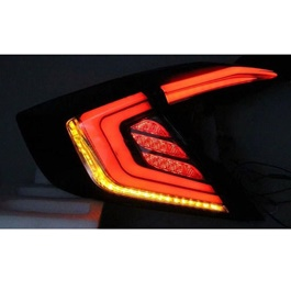 Honda Civic Sequential Back Lamps Red - Model 2016-2019