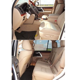 Toyota Land Cruiser Genuine Leather Seat Covers - Model 2015-2019