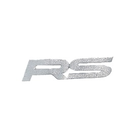 RS Sticker Silver - Each-SehgalMotors.Pk