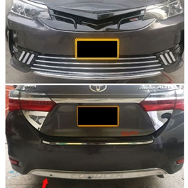 Toyota Corolla Front Back Chrome Set - Model 2017-2019-SehgalMotors.Pk