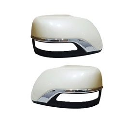 Toyota Land Cruiser Side Mirror Chrome Cover White - Model 2008-2019-SehgalMotors.Pk