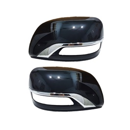 Toyota Land Cruiser Side Mirror Chrome Cover Black - Model 2008-2019-SehgalMotors.Pk