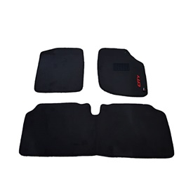 Honda City Custom Fit Carpet Floor Mat Black - Model 2009-2019-SehgalMotors.Pk