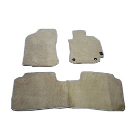 Toyota Corolla Custom Fit Carpet Floor Mat Beige - Model 2014-2019-SehgalMotors.Pk